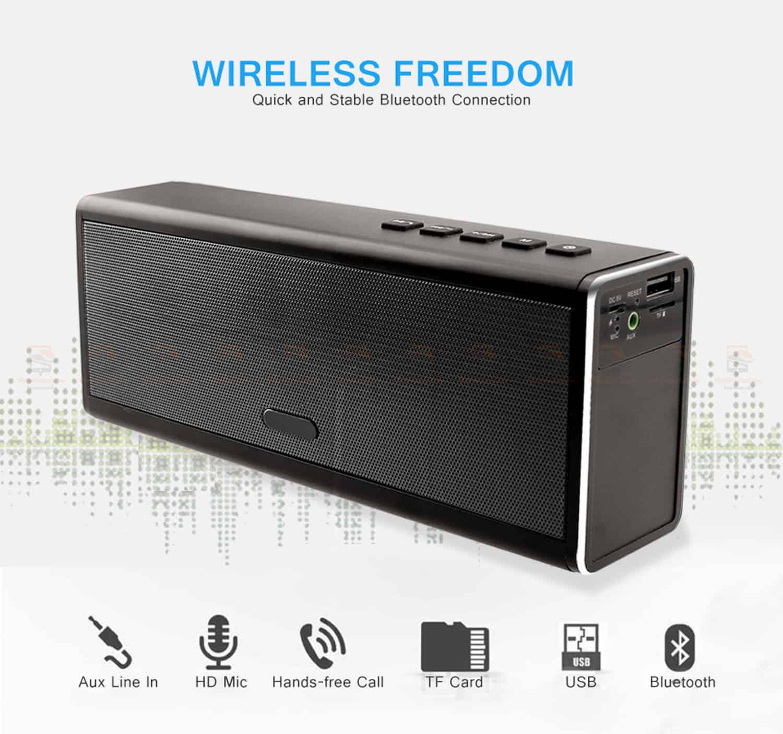 ลำโพงบลูทูธ 20W HIFI Wireless Stereo Super Bass Metal Bluetooth Speaker Detail