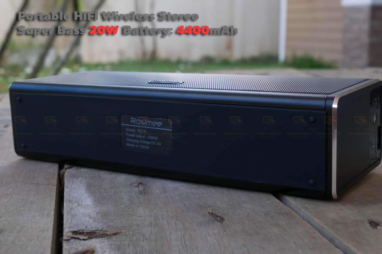 ลำโพง Bluetooth 20W HIFI Wireless Stereo Super Bass Metal Bluetooth Speaker-11