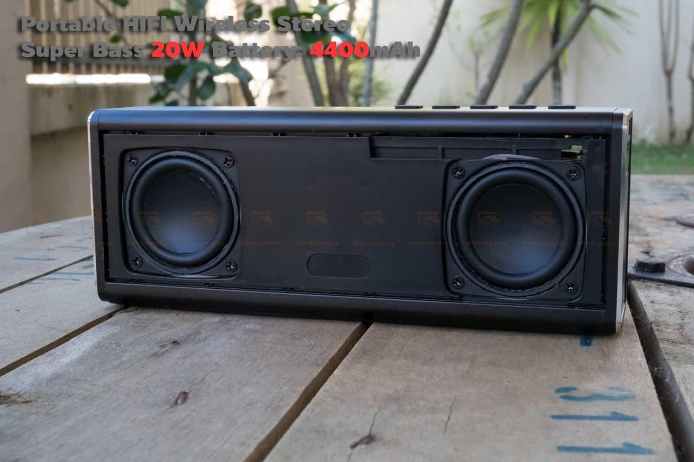 ลำโพง Bluetooth 20W HIFI Wireless Stereo Super Bass Metal Bluetooth Speaker-13