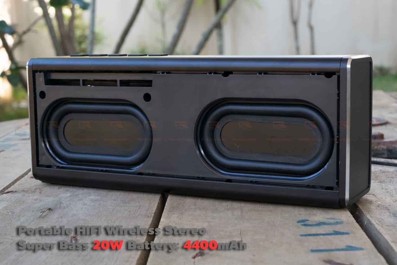 ลำโพง Bluetooth 20W HIFI Wireless Stereo Super Bass Metal Bluetooth Speaker-15