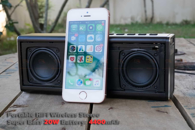 ลำโพง Bluetooth 20W HIFI Wireless Stereo Super Bass Metal Bluetooth Speaker-19