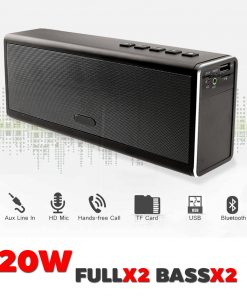 ลำโพง Bluetooth 20W HIFI Wireless Stereo Super Bass Metal Bluetooth Speaker-24