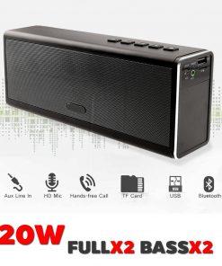 ลำโพง Bluetooth 20W HIFI Wireless Stereo Super Bass Metal Bluetooth Speaker-24