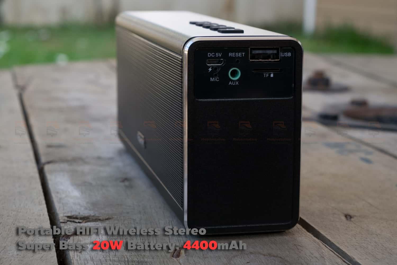 ลำโพง Bluetooth 20W HIFI Wireless Stereo Super Bass Metal Bluetooth Speaker-8