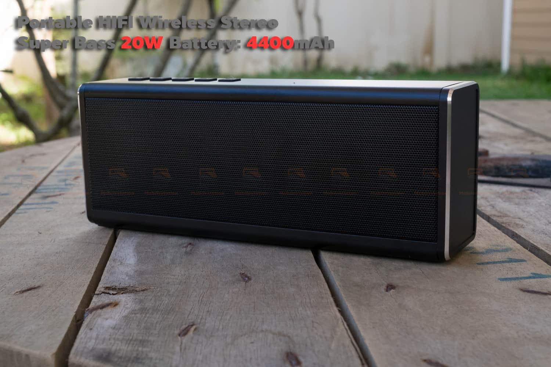 ลำโพง Bluetooth 20W HIFI Wireless Stereo Super Bass Metal Bluetooth Speaker-9