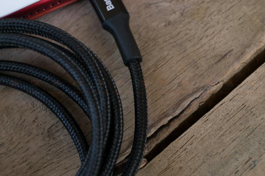 สายชาร์จไอโฟน Baseus LED Lighting USB Cable For iPhone X 8 6 7 Fast Charging Cable รูปสินค้าจริง-5