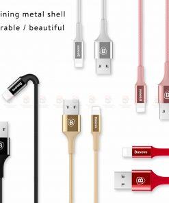 สายชาร์จไอโฟน Baseus LED Lighting USB Cable For iPhone X 8 6 7 Fast Charging Cable-12