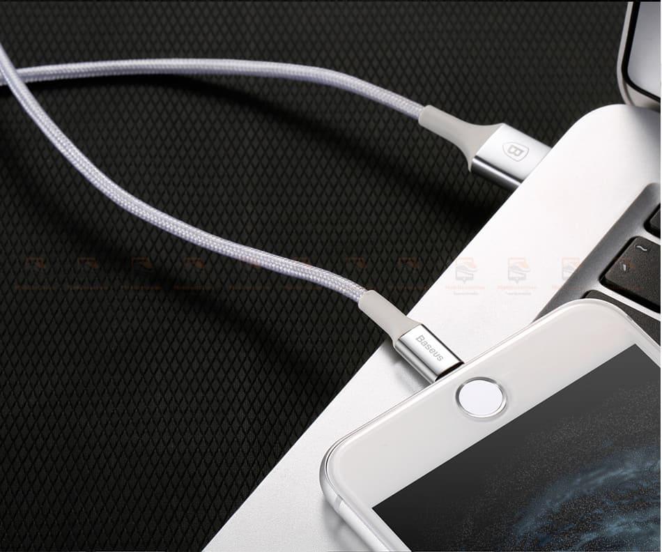 สายชาร์จไอโฟน Baseus LED Lighting USB Cable For iPhone X 8 6 7 Fast Charging Cable-16
