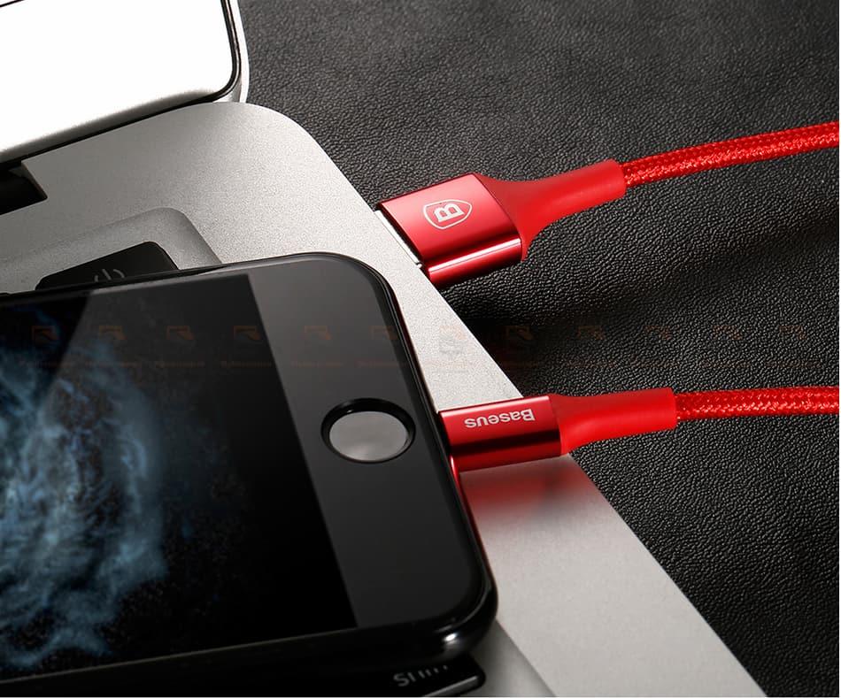 สายชาร์จไอโฟน Baseus LED Lighting USB Cable For iPhone X 8 6 7 Fast Charging Cable-18