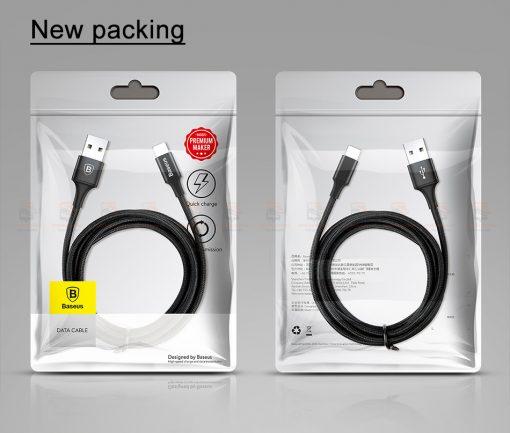 สายชาร์จไอโฟน Baseus LED Lighting USB Cable For iPhone X 8 6 7 Fast Charging Cable-2