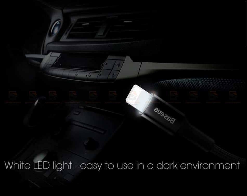 สายชาร์จไอโฟน Baseus LED Lighting USB Cable For iPhone X 8 6 7 Fast Charging Cable-7
