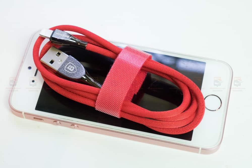 สายชาร์จไอโฟน Baseus Zinc Alloy USB Cable For iPhone X 8 7 6 5 Fast Charging Charger Cable 1 เมตร สินค้าจริง-11