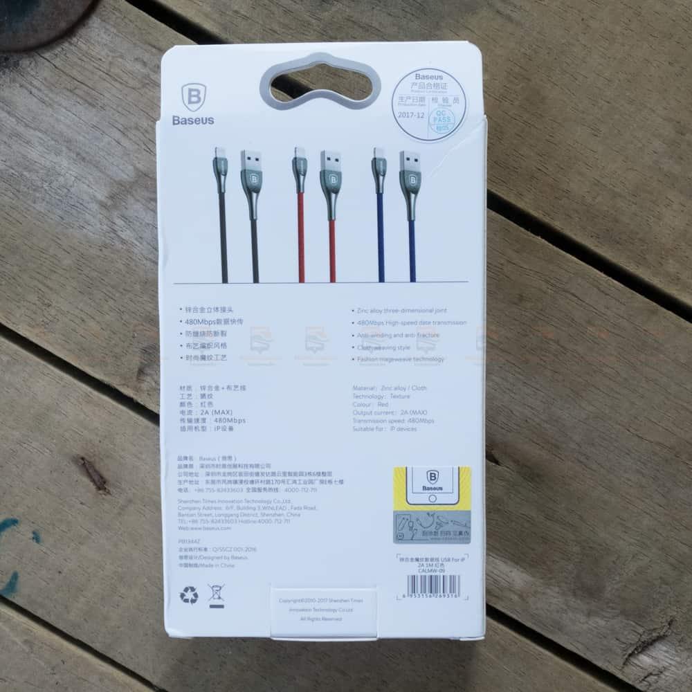 สายชาร์จไอโฟน Baseus Zinc Alloy USB Cable For iPhone X 8 7 6 5 Fast Charging Charger Cable 1 เมตร สินค้าจริง-2