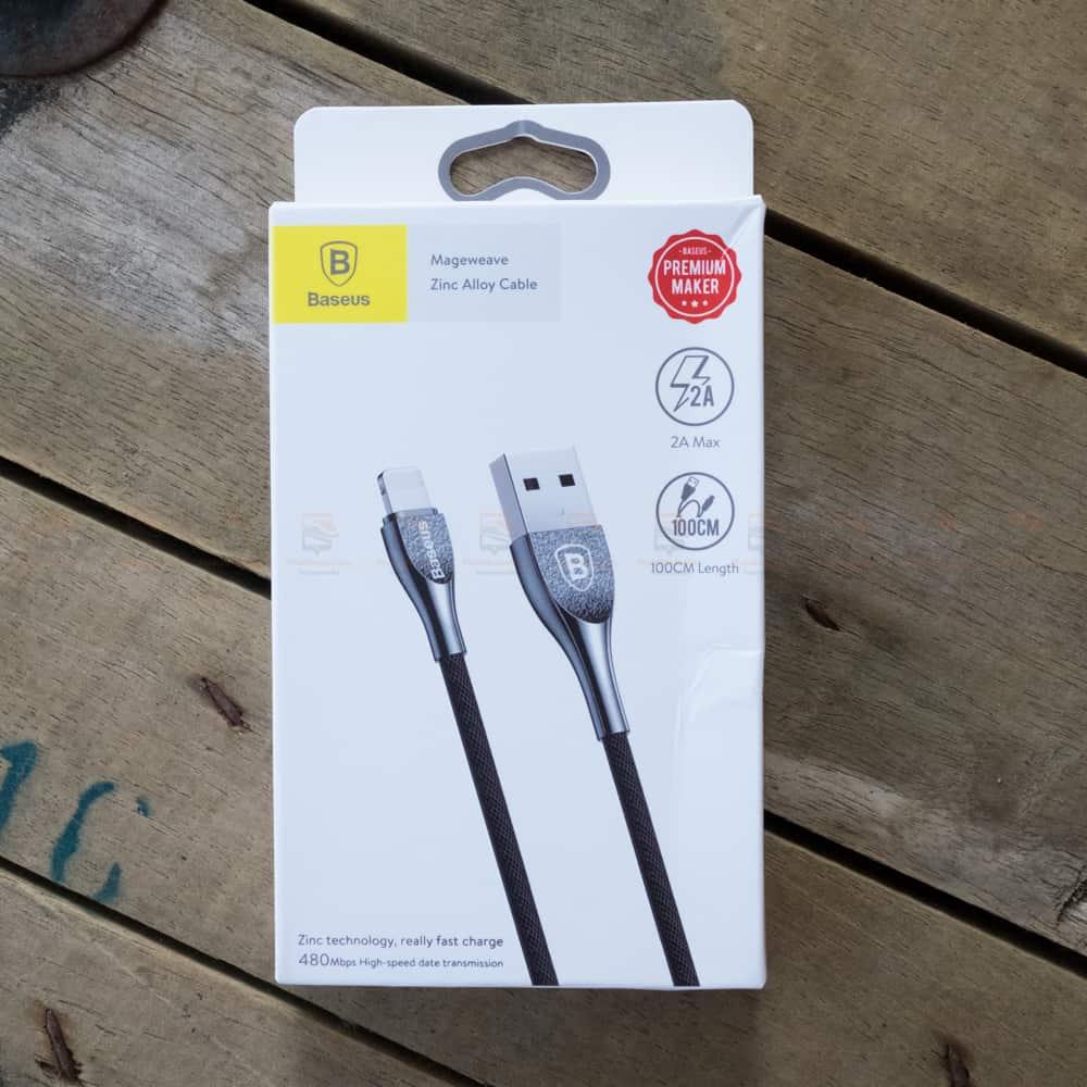 สายชาร์จไอโฟน Baseus Zinc Alloy USB Cable For iPhone X 8 7 6 5 Fast Charging Charger Cable 1 เมตร สินค้าจริง-3