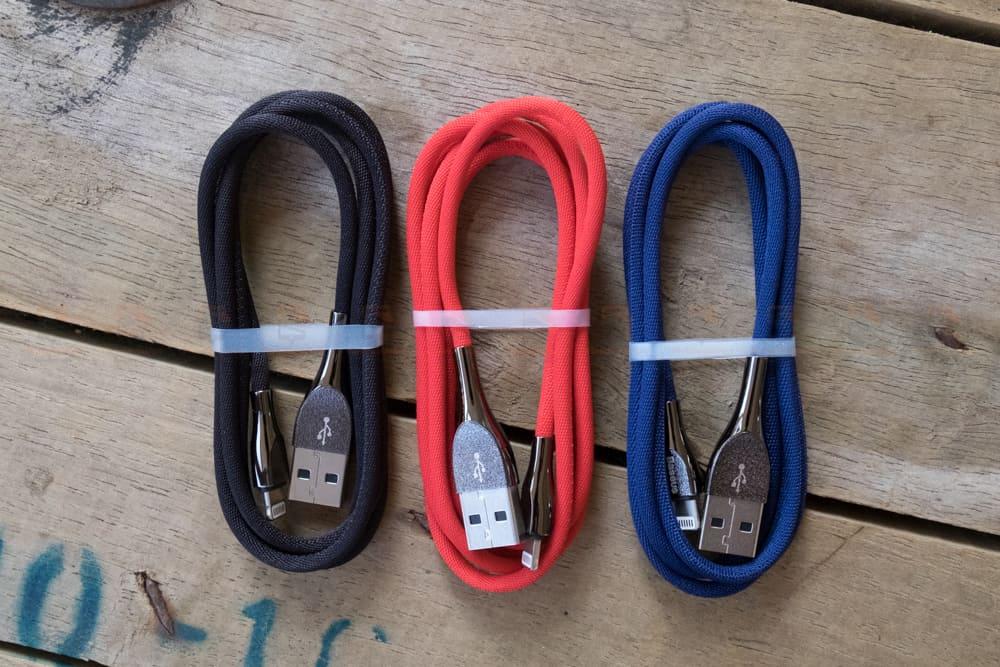 สายชาร์จไอโฟน Baseus Zinc Alloy USB Cable For iPhone X 8 7 6 5 Fast Charging Charger Cable 1 เมตร สินค้าจริง-4