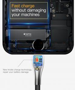 สายชาร์จไอโฟน Baseus Zinc Alloy USB Cable For iPhone X 8 7 6 5 Fast Charging Charger Cable 10