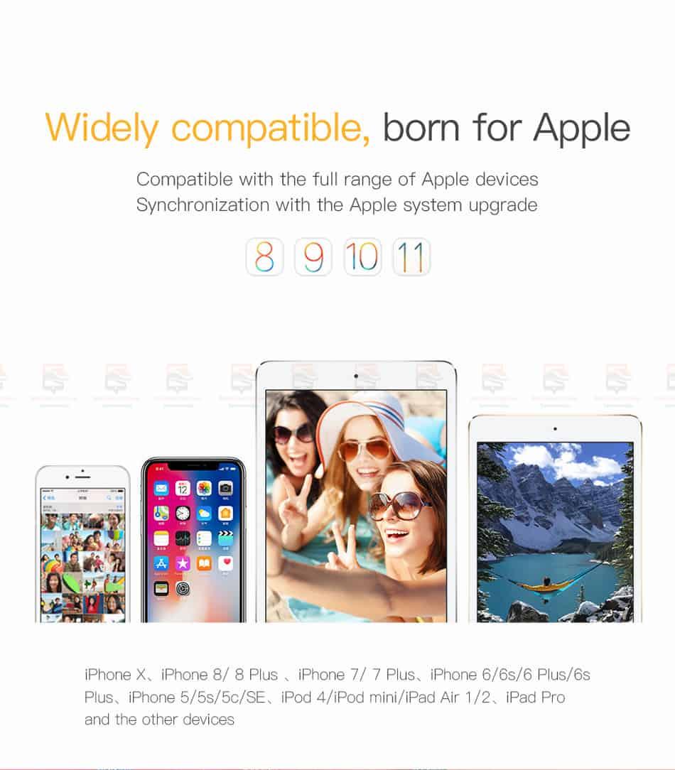 สายชาร์จไอโฟน Baseus Zinc Alloy USB Cable For iPhone X 8 7 6 5 Fast Charging Charger Cable 14