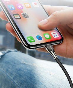 สายชาร์จไอโฟน Baseus Zinc Alloy USB Cable For iPhone X 8 7 6 5 Fast Charging Charger Cable 18