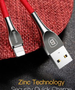 สายชาร์จไอโฟน Baseus Zinc Alloy USB Cable For iPhone X 8 7 6 5 Fast Charging Charger Cable 3