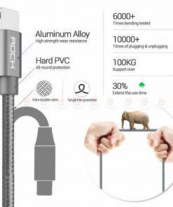สายชาร์จไอโฟน ROCK For IPhone Cable IOS 11 10 9 For Fast Charger Lighting to USB Cables Charging 2.1A รายละเอียด-2