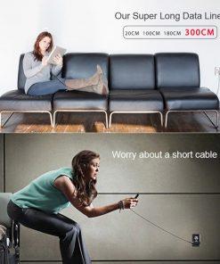 สายชาร์จไอโฟน ROCK For IPhone Cable IOS 11 10 9 For Fast Charger Lighting to USB Cables Charging 2.1A รายละเอียด-6
