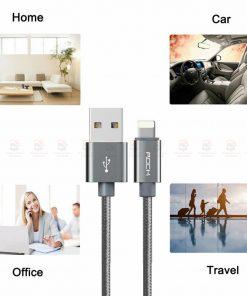 สายชาร์จไอโฟน ROCK For IPhone Cable IOS 11 10 9 For Fast Charger Lighting to USB Cables Charging 2.1A รายละเอียด-7