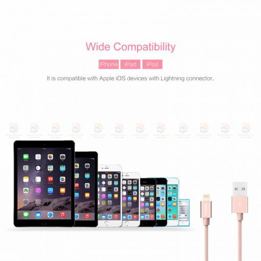 สายชาร์จไอโฟน ROCK For IPhone Cable IOS 11 10 9 For Fast Charger Lighting to USB Cables Charging 2.1A รายละเอียด-8