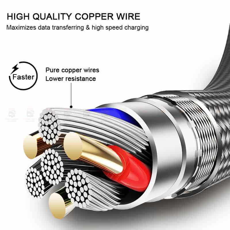 สายชาร์จไอโฟน ROCK For IPhone Cable IOS 11 10 9 For Fast Charger Lighting to USB Cables Charging 2.1A รายละเอียด