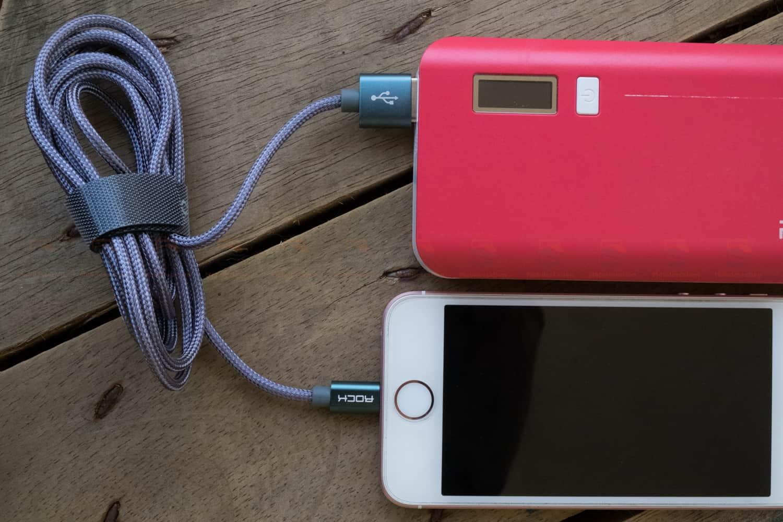 สายชาร์จไอโฟน ROCK For IPhone Cable IOS 11 10 9 For Fast Charger Lighting to USB Cables Charging 2.1A-6