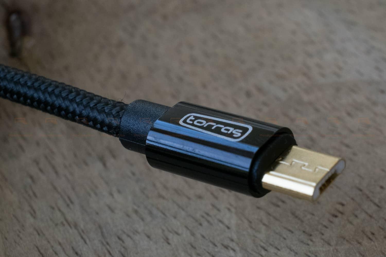 สายชาร์จ ซัมซุง Android TORRAS Micro USB Cable Gold Plated Fast Charge USB Cable Charging Nylon Braided Data Cable-10