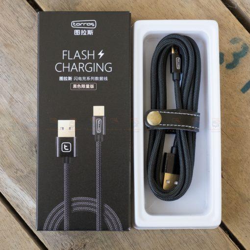 สายชาร์จ ซัมซุง Android TORRAS Micro USB Cable Gold Plated Fast Charge USB Cable Charging Nylon Braided Data Cable-5