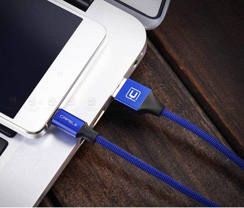 สายชาร์จ Samsung Android Cafele Micro USB Cable Fast Charge_10