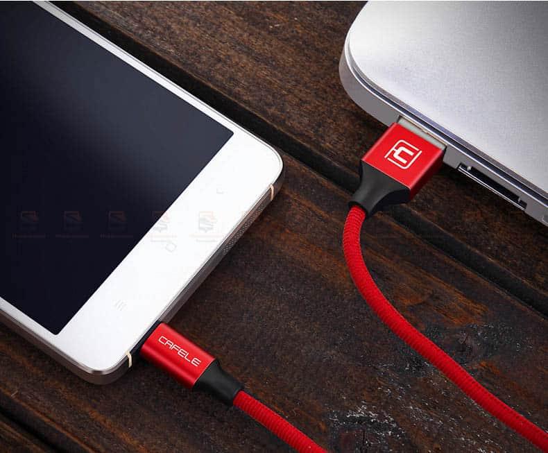 สายชาร์จ Samsung Android Cafele Micro USB Cable Fast Charge_11