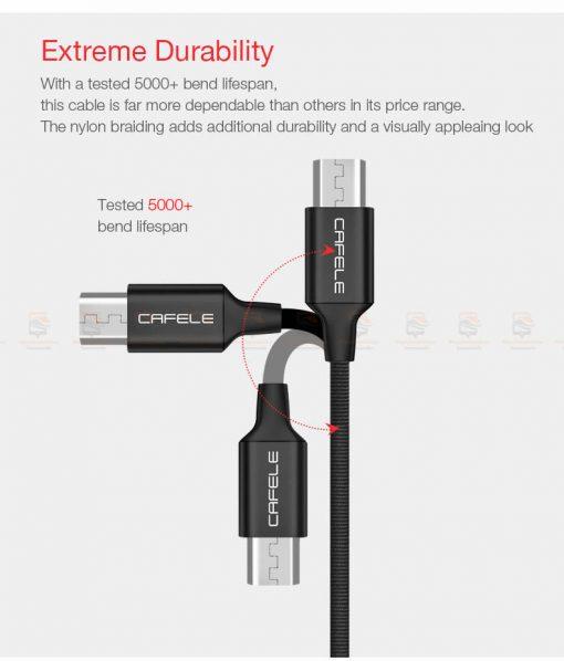 สายชาร์จ ซัมซุง Android Cafele Micro USB Cable Fast Charge_3