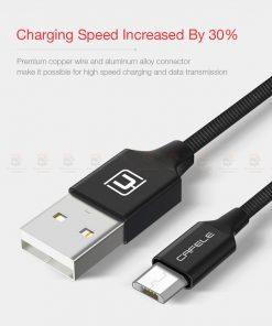 สายชาร์จ ซัมซุง Android Cafele Micro USB Cable Fast Charge_5