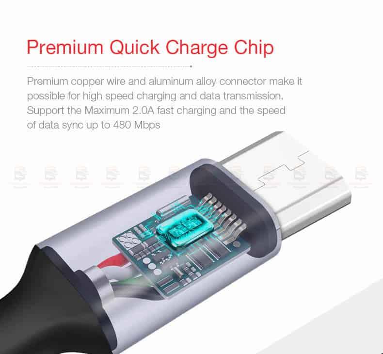 สายชาร์จ Samsung Android Cafele Micro USB Cable Fast Charge_6