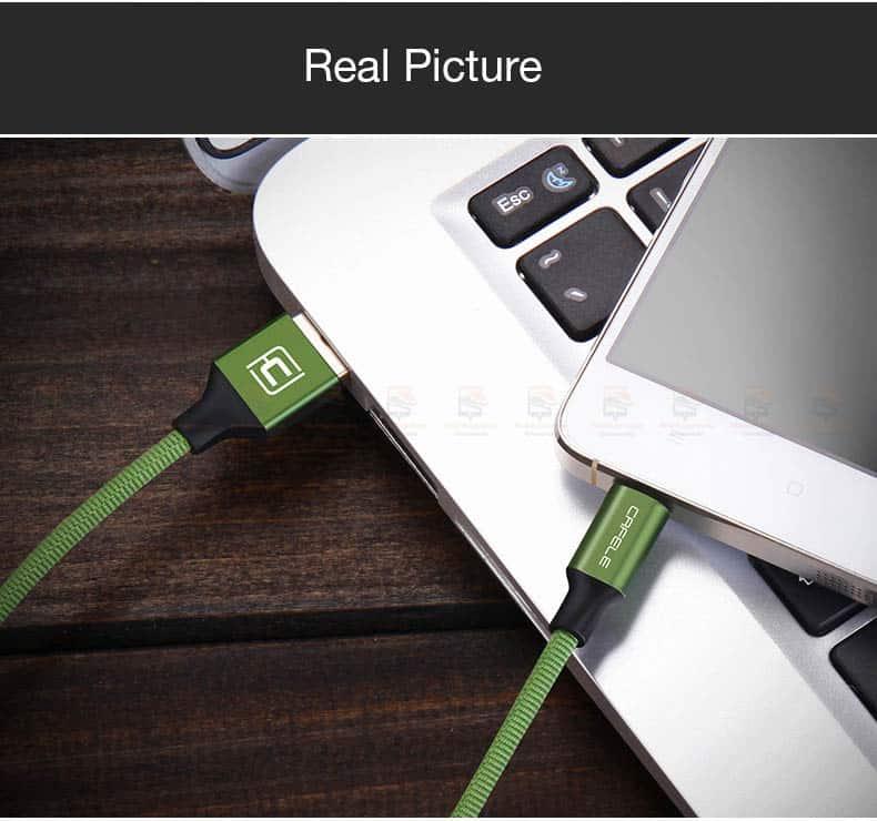 สายชาร์จ Samsung Android Cafele Micro USB Cable Fast Charge_9