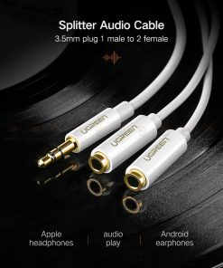 สาย Aux แยกหูฟัง Ugreen Jack 3.5mm Earphone Splitter Cable for iPhone Samsung Computer