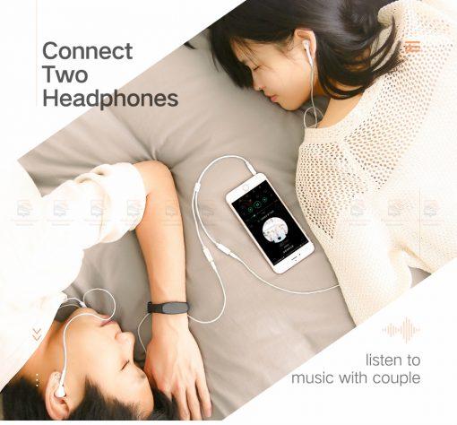 สาย Aux แยกหูฟัง Ugreen Jack 3.5mm Earphone Splitter Cable for iPhone Samsung Computer-3