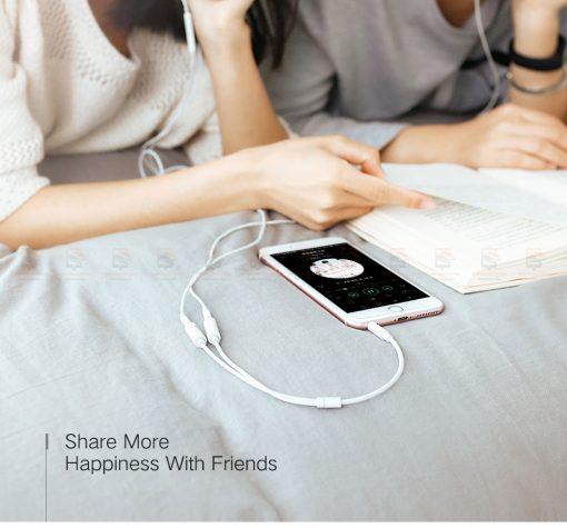 สาย Aux แยกหูฟัง Ugreen Jack 3.5mm Earphone Splitter Cable for iPhone Samsung Computer-4