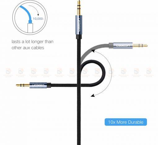 สาย aux Ugreen 3.5mm Jack Audio Cable Gold Plated for iPhone Car Headphone Speaker Auxiliary Cable รายละเอียด-5