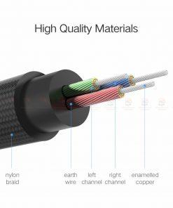 สาย aux Ugreen 3.5mm Jack Audio Cable Gold Plated for iPhone Car Headphone Speaker Auxiliary Cable รายละเอียด-7