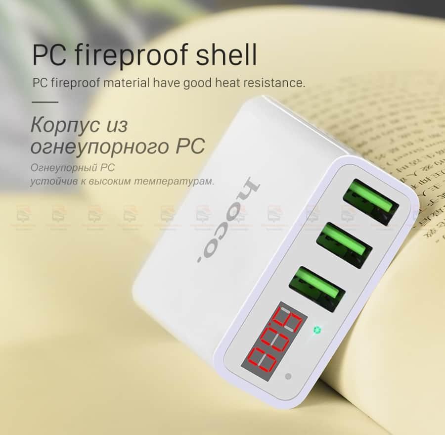 ที่ชาร์จแบต HOCO 5V 3A 3 Ports USB Fast Charging Charger LED display Adapter For iPhone Samsung-12