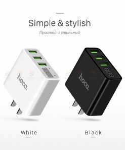 ที่ชาร์จแบต HOCO C15 5V 3A 3 Ports USB Fast Charging Charger LED display Adapter For iPhone Samsung-6