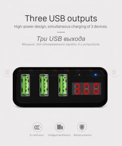 ที่ชาร์จแบต HOCO C15 5V 3A 3 Ports USB Fast Charging Charger LED display Adapter For iPhone Samsung-9