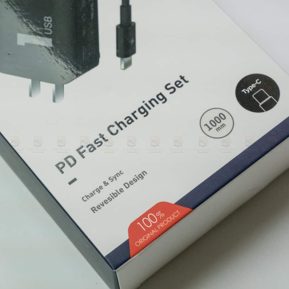 ที่ชาร์จแบต ROCK PD Fast Charger Set for iPhone X 8 Plus With Type C to Lighting Cable สินค้าจริง-4