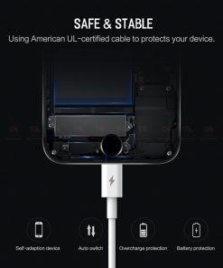 ที่ชาร์จแบต ROCK PD Fast Charger Set for iPhone X 8 Plus With Type C to Lighting Cable-14