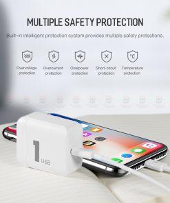ที่ชาร์จแบต ROCK PD Fast Charger Set for iPhone X 8 Plus With Type C to Lighting Cable-4