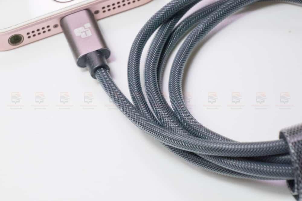 สายชาร์จไอโฟน TIEGEM Tanpow-K series Alloy Aluminum Nylon Fast Charging For iPhone X 8 7 6 สินค้าจริง-2
