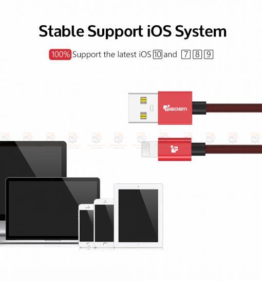 สายชาร์จไอโฟน TIEGEM Tanpow-K series Alloy Aluminum Nylon Fast Charging For iPhone X 8 7 6_10